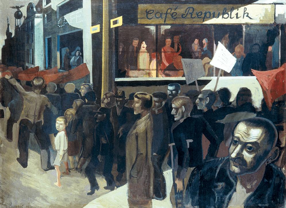 Hans Grundig, La Marche de la faim, 1932, peinture