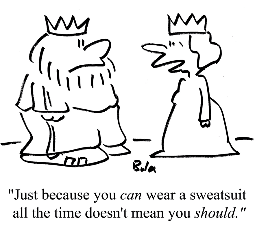 Cartoon by Baloo, That you can doesn't mean you should, 2016