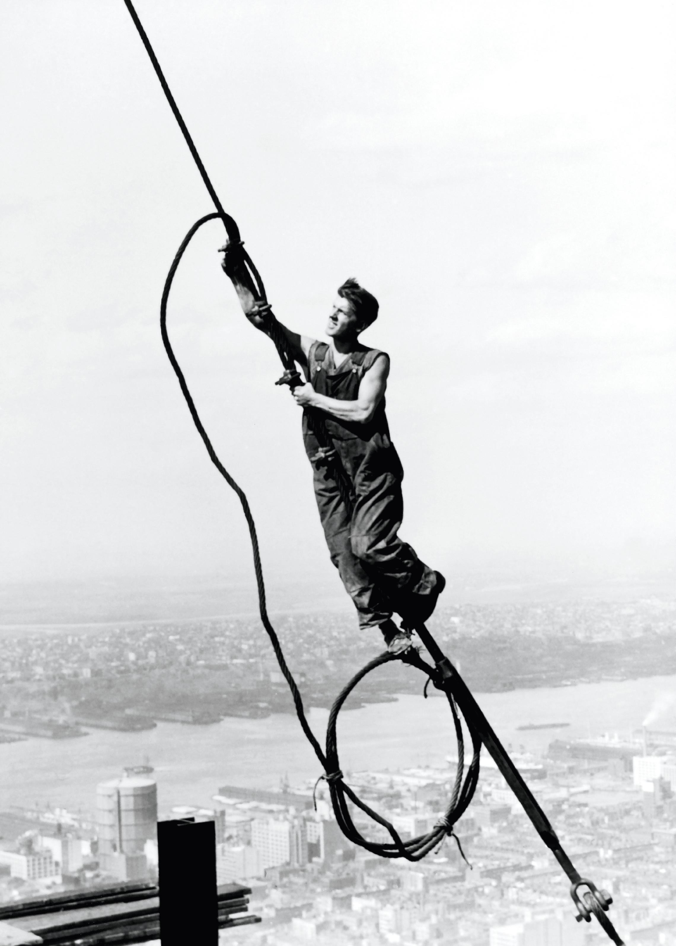 Ouvrier sur l'Empire State Building