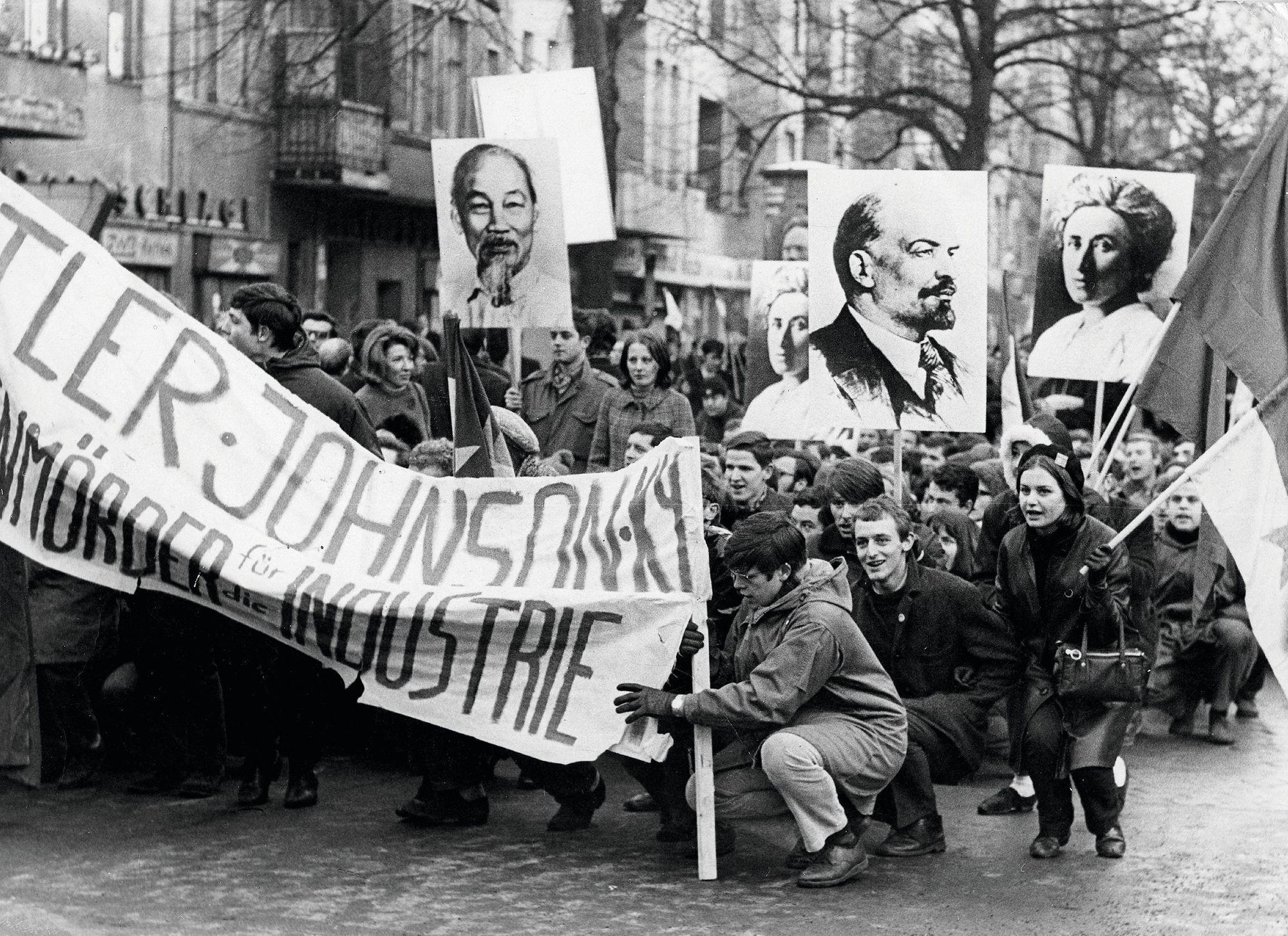 Manifestation à Berlin-Ouest, février 1968, photographie
