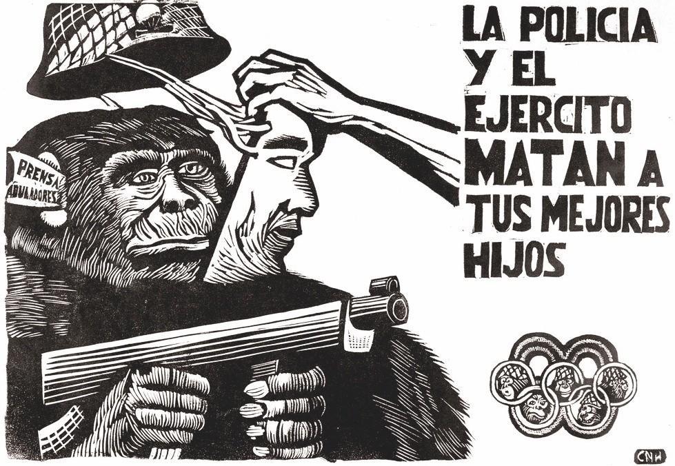 Affiche étudiante mexicaine, 1968