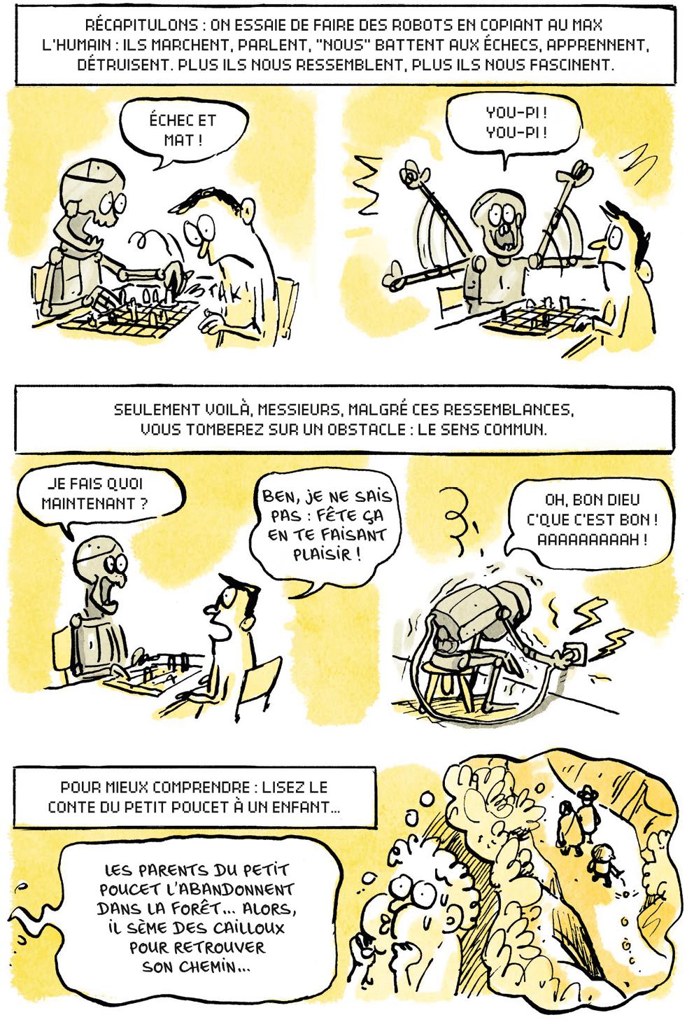 bande dessinée, L'intelligence artificielle – Fantasmes et réalités, de Jean-Noël Lafargue et Marion Montaigne
