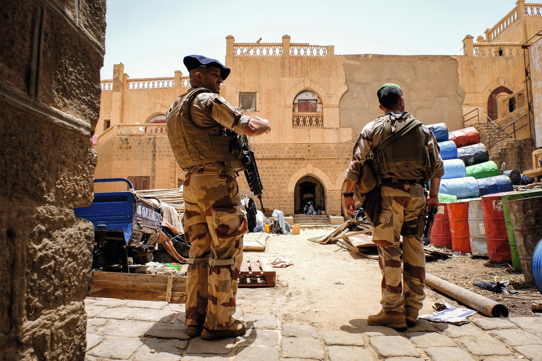 Des soldats français à Goa, Mali
