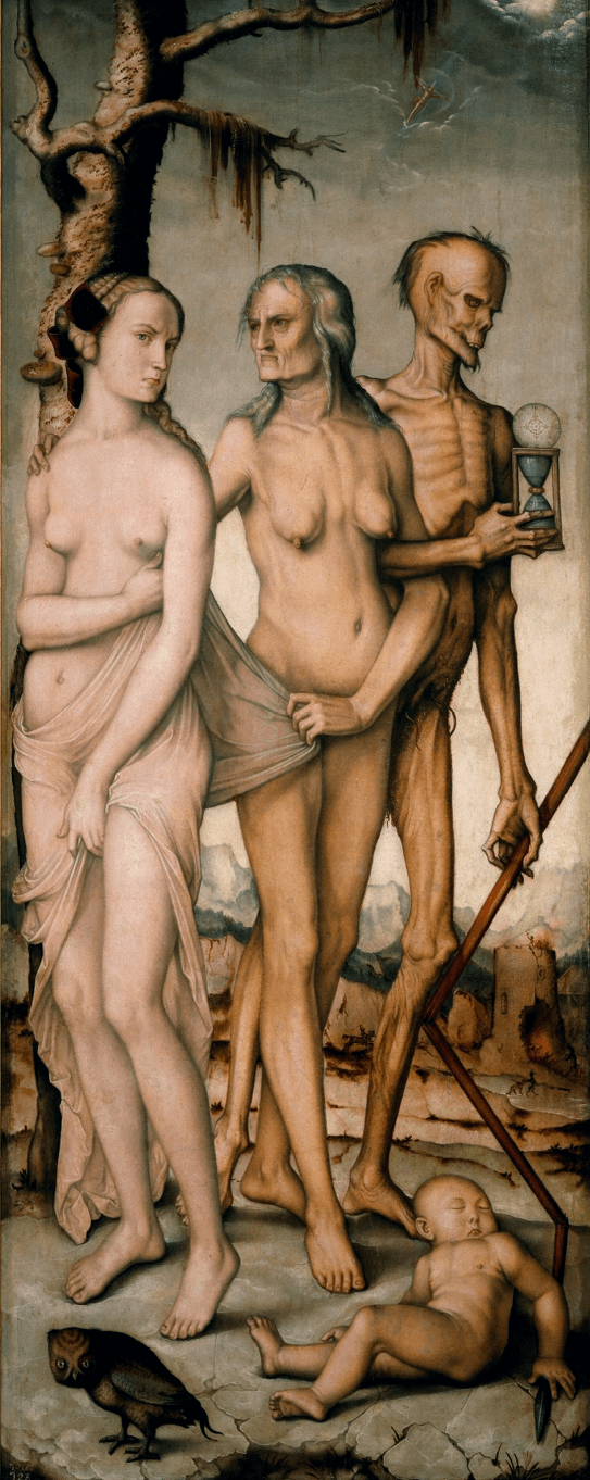 Hans Baldung, <i>Les Trois Âges et la Mort</i>, 1510, huile sur toile