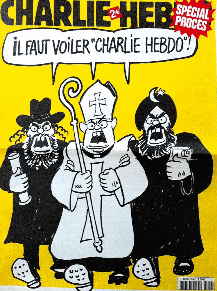 Couverture du journal satirique, Charlie Hebdo