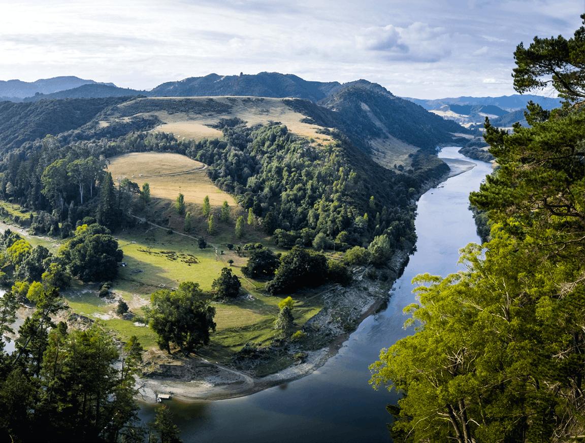 Le fleuve Whanganui en Nouvelle Zélande