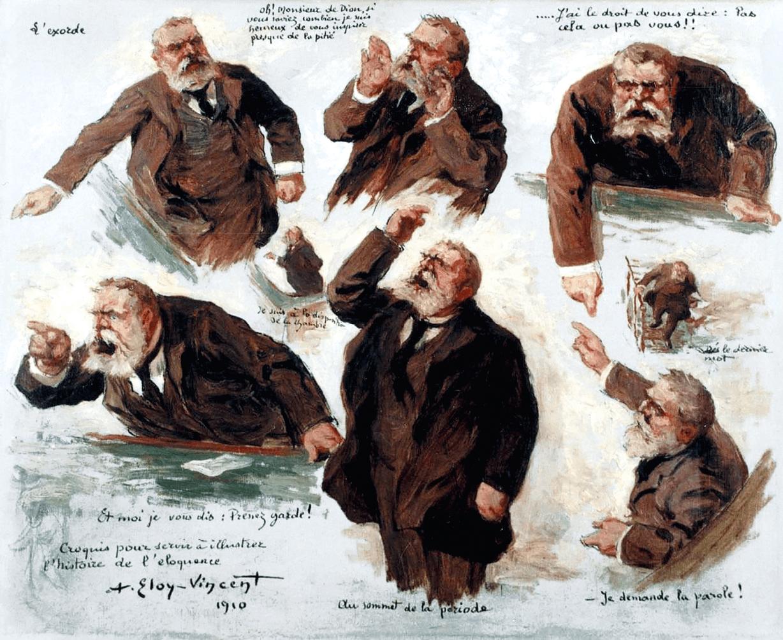 Caricature Jean Jaures