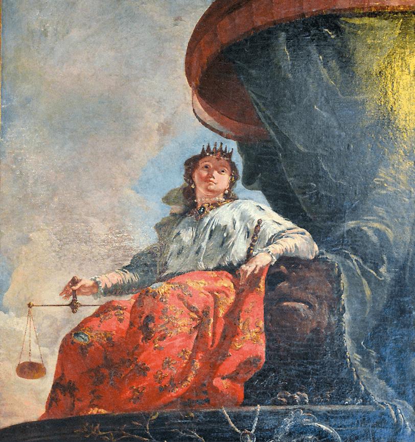 Francesco Fontebasso, Allégorie de la justice (détail), 1745, huile sur toile, 133,5 × 192 cm (musée du Louvre).