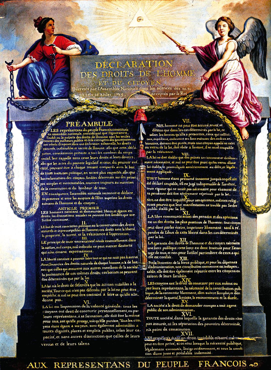 Jean-Jacques Le Barbier, Déclaration des Droits de l'Homme et du Citoyen, vers 1789, huile sur toile