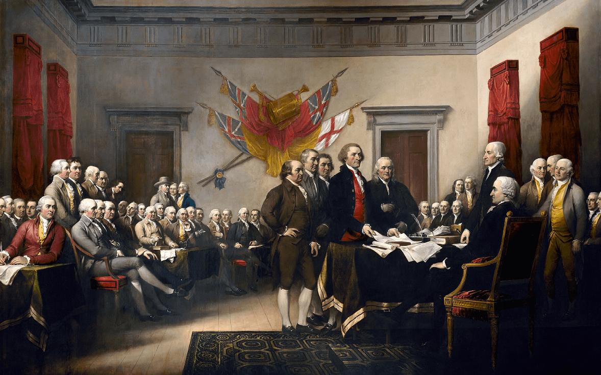 John Trumbull, Déclaration d'indépendance, 1819