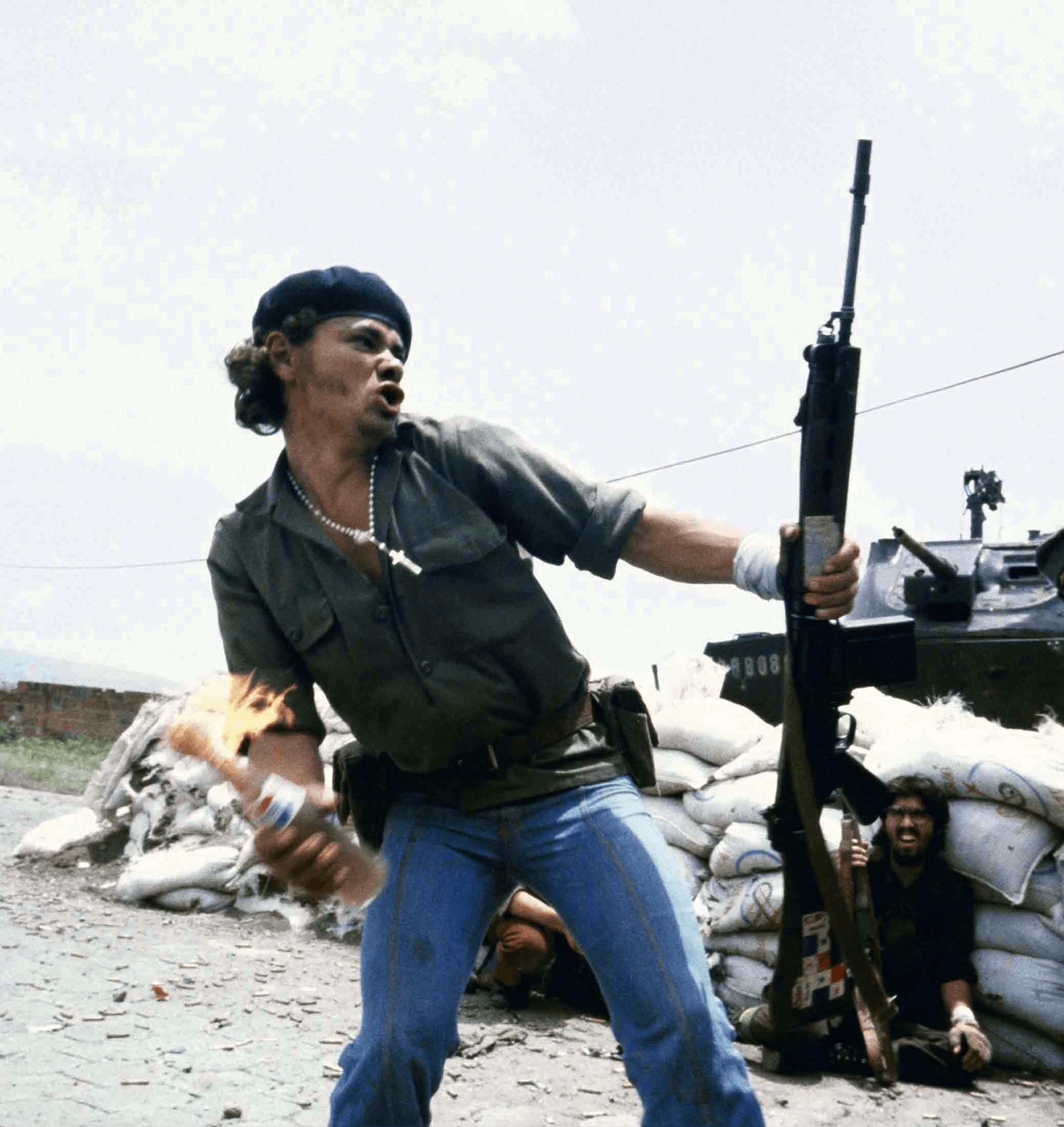 Susan Meiselas, Molotov Man, 16 juillet 1979, photographie (détail)