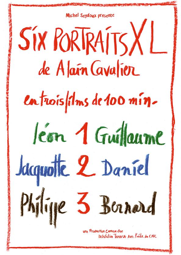 Affiche du film Six portaits XL, d'Alain Cavalier, 2018