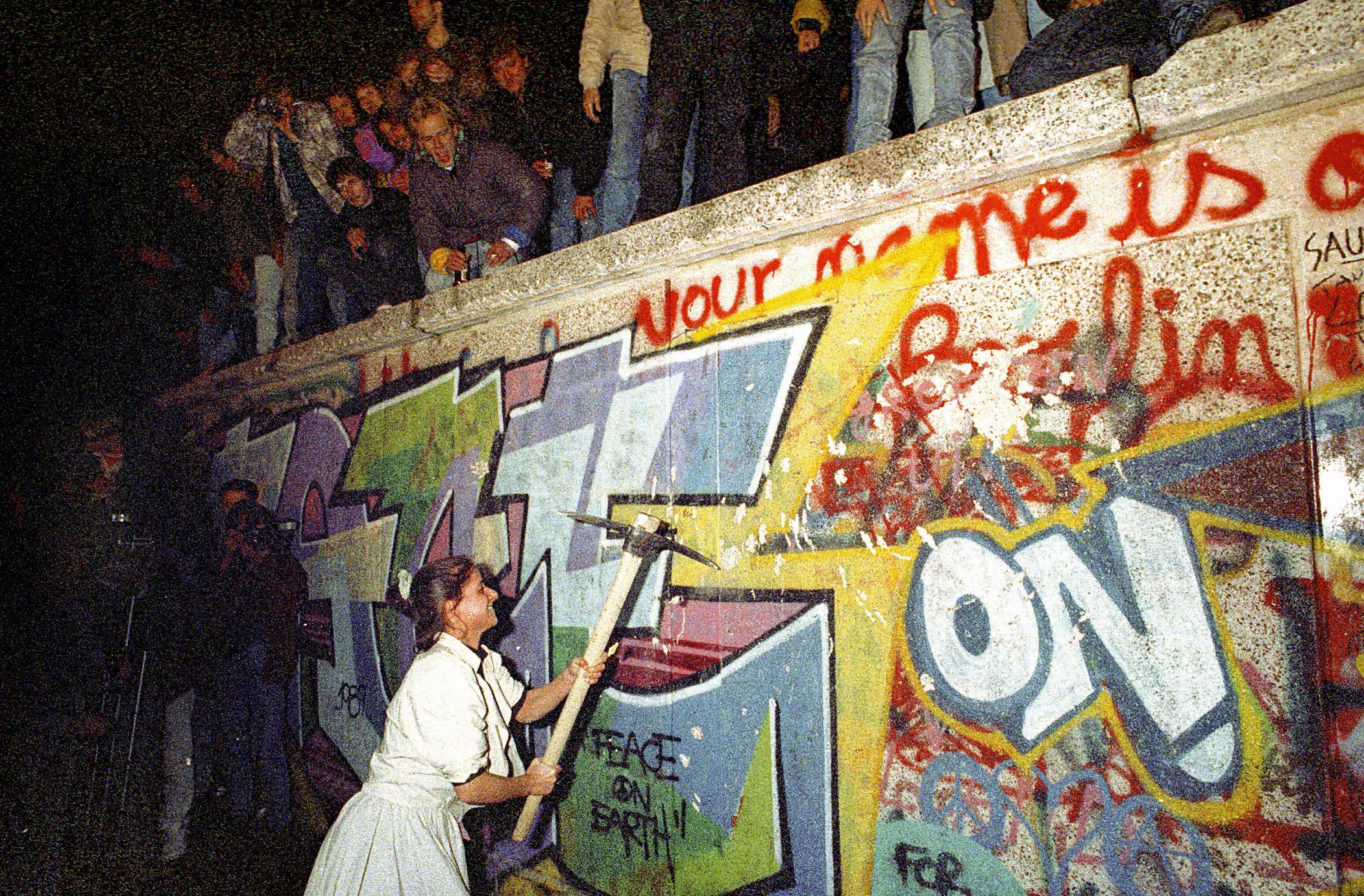 José Giribas, 9 novembre 1989, photographie.