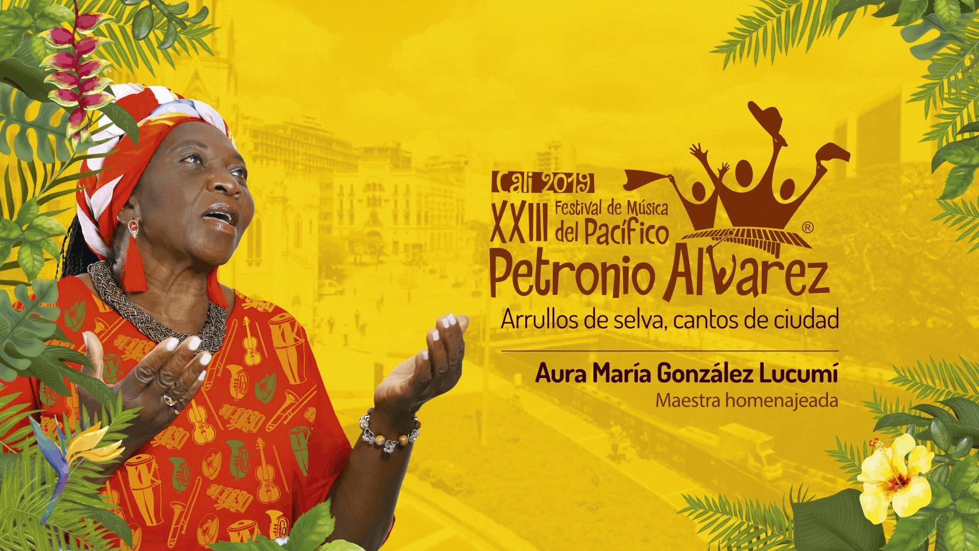 Cartel del Festival Afrolatino Petronio Álvarez, Cali (Colombia), 2019.