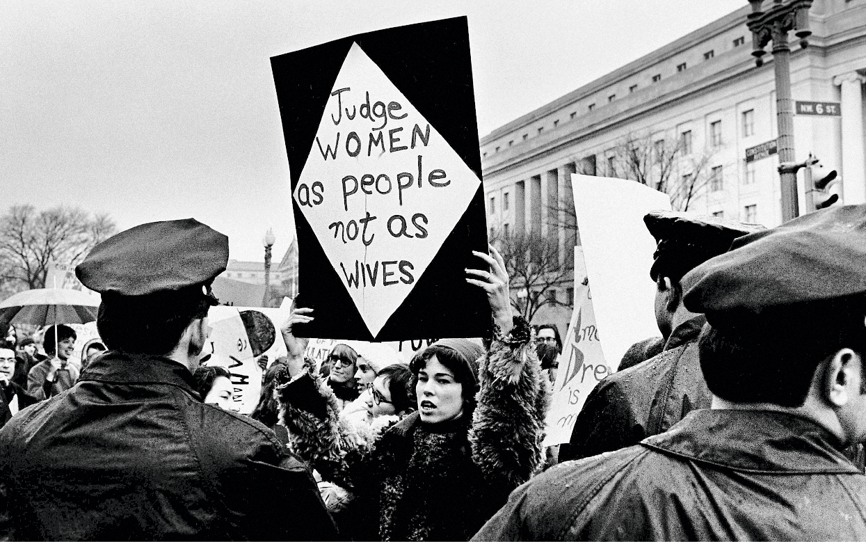 Nixon Inauguration Protest, by David Fenton, 1969