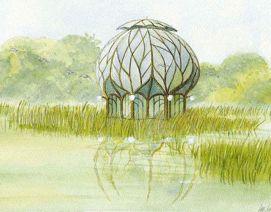 Luc Schuiten, La Maison des cerisiers, 1977, collection « La cité végétale »