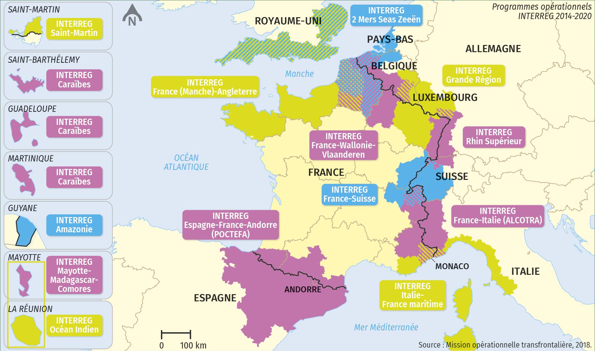 Les programmes INTERREG en France
