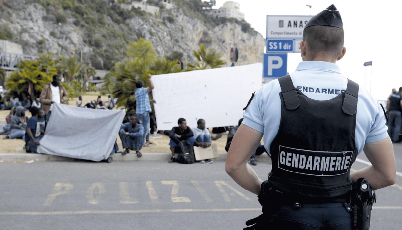 La frontière franco-italienne, objet de tensions entre la France et l'Italie