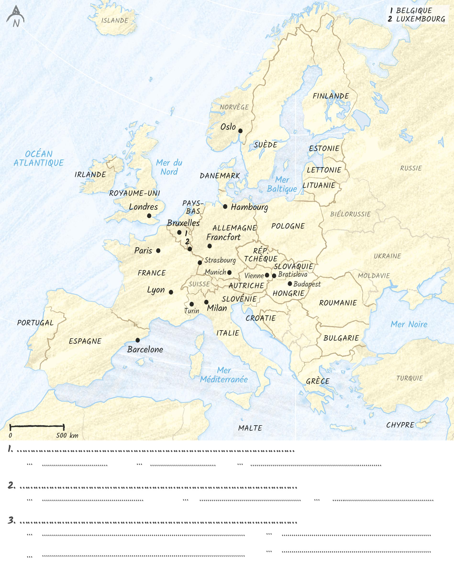 Croquis politique européenne des transports
