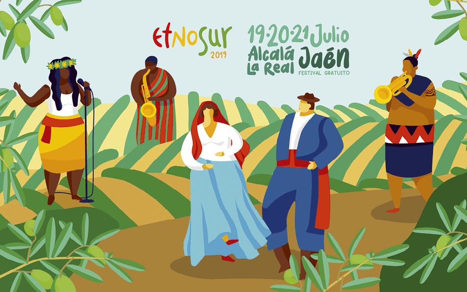 Cartel del festival Etnosur, Jaén, 2019.