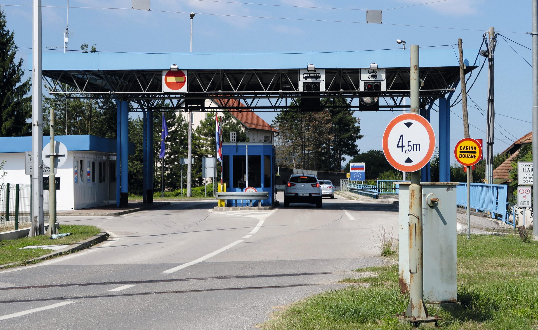 Ancien poste-frontière entre la Croatie et la Slovénie
