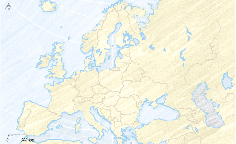 Fond de carte - Europe
