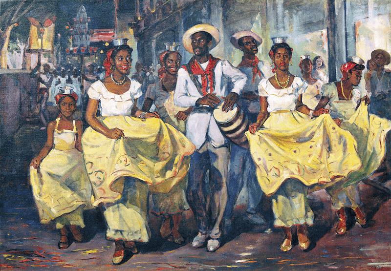 Oscar García Rivera, Comparsa, 1940.