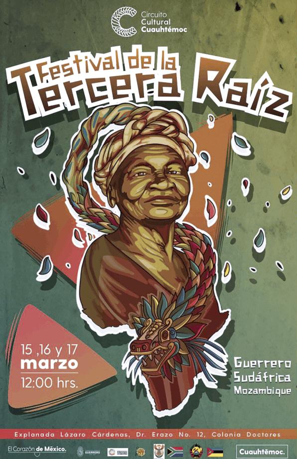 Cartel del Festival de la Tercera Raíz, Ciudad de México, 2019.