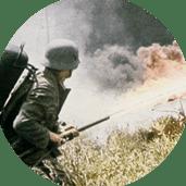Point de passage - Front de l'Est guerre d'anéantissement : lance flamme