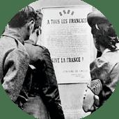 Point de passage - Juin 1940 affiche soldats