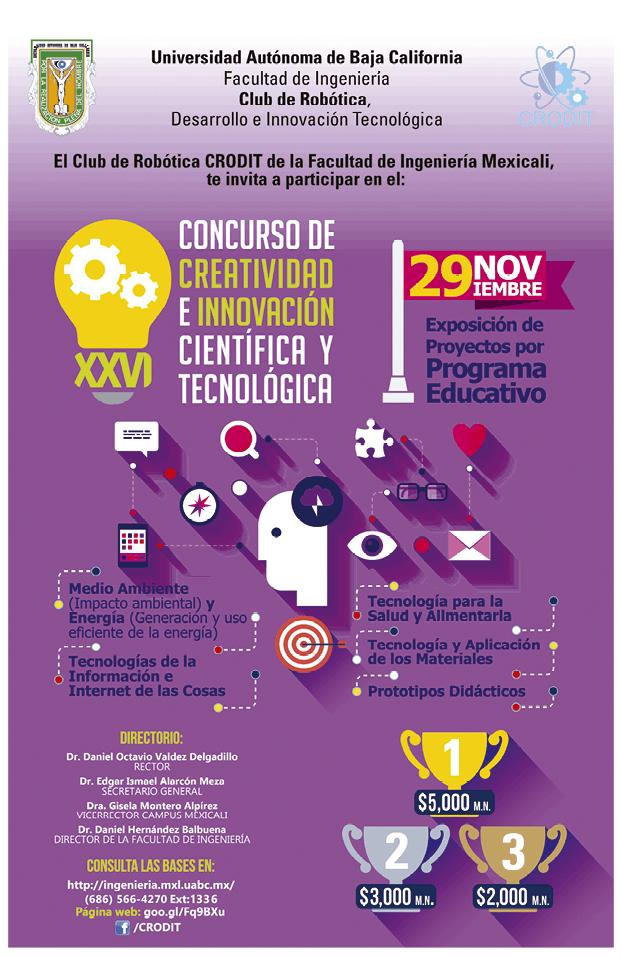 XXV Concurso de Creatividad e innovación científica y tecnológica, Club de Robótica CRODIT, 2018