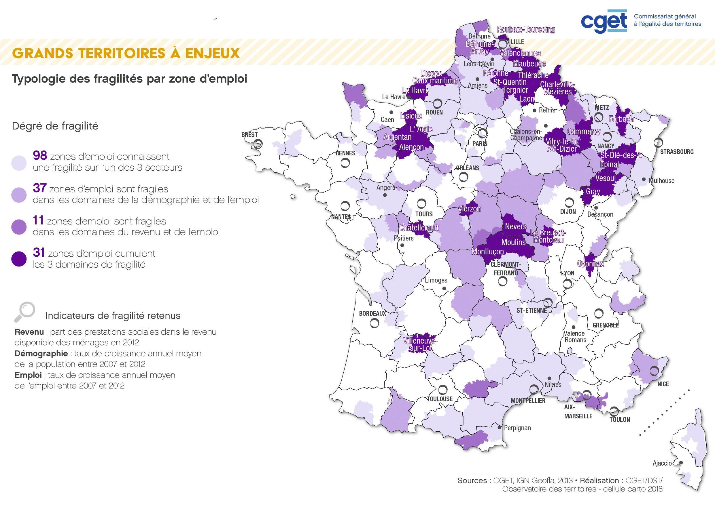 Carte CGET fragilité emplois