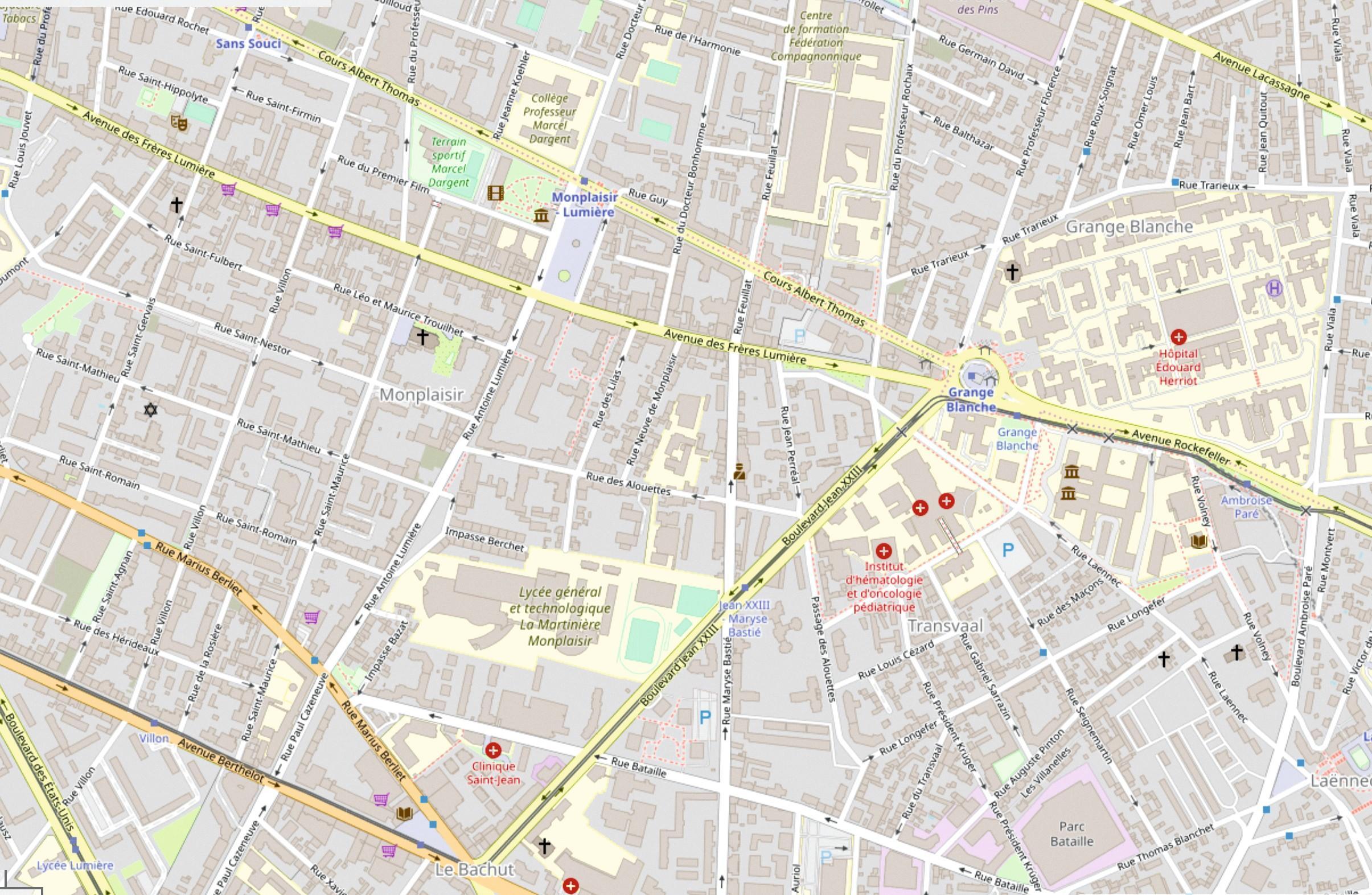Quartier Lyon OpenStreetMap