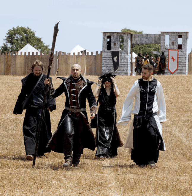 LARPing, people in costumes