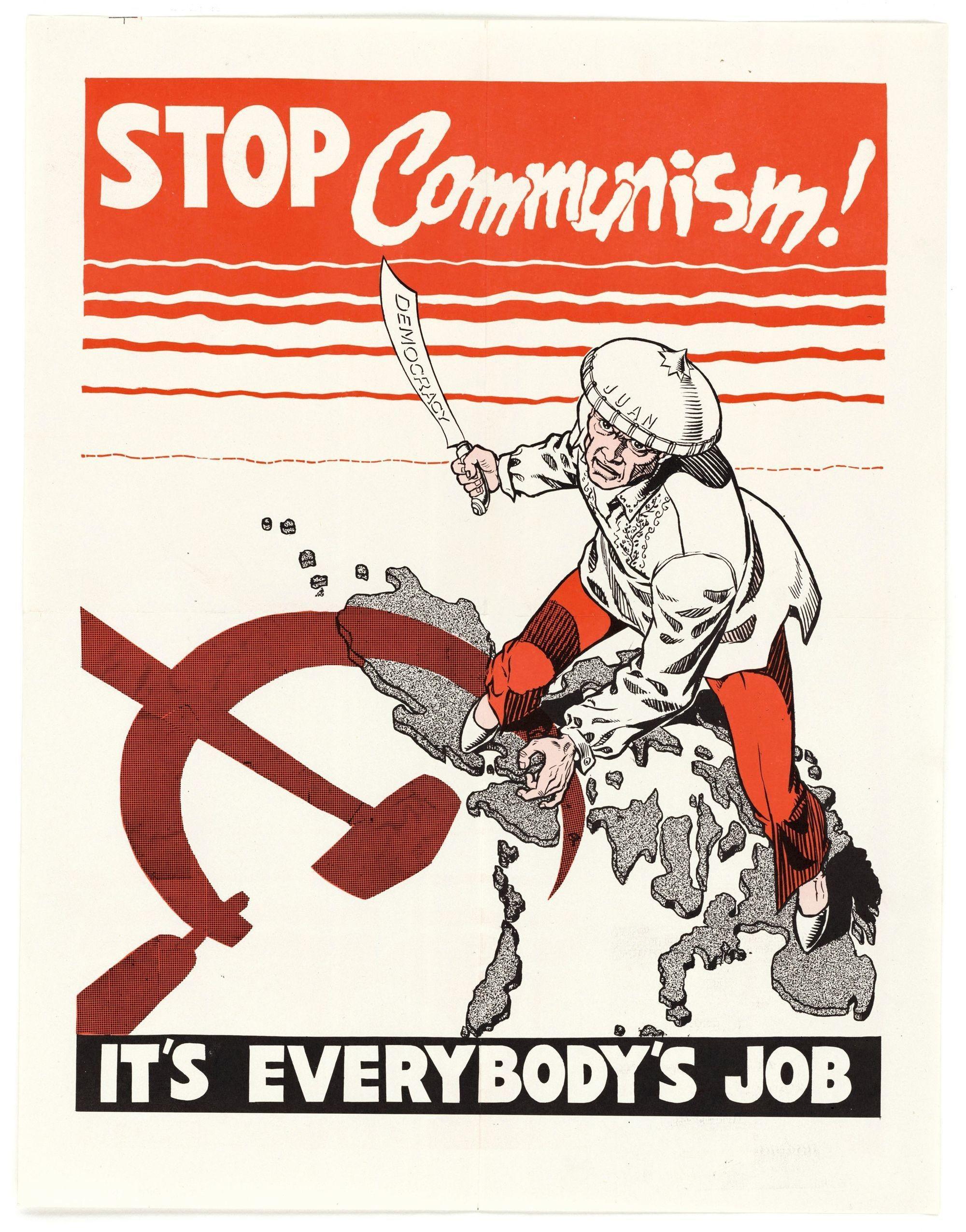 Anonyme, affiche américaine anti-communiste, 1951