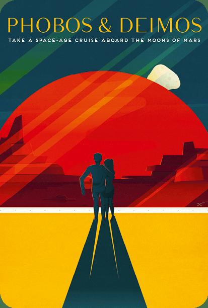 Phobos et Deimos affiche Tesla