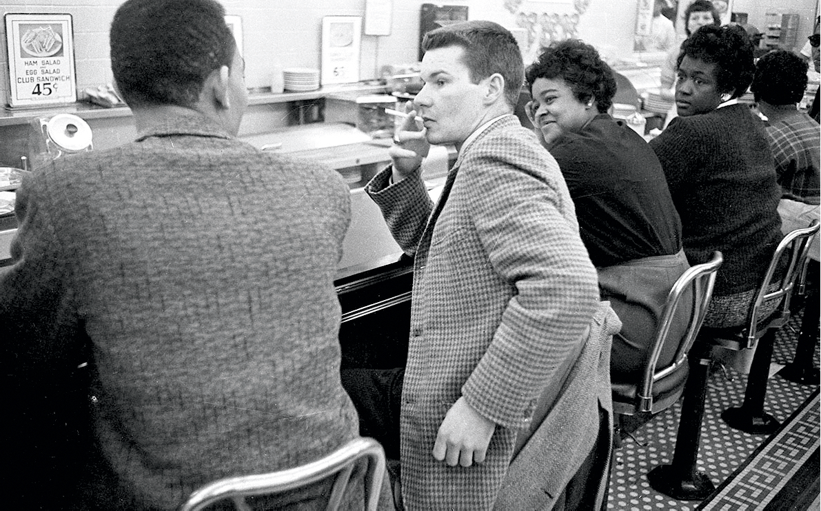 Civil Rights protesters and Woolworth's Sit-In, Durham, NC, 1960
