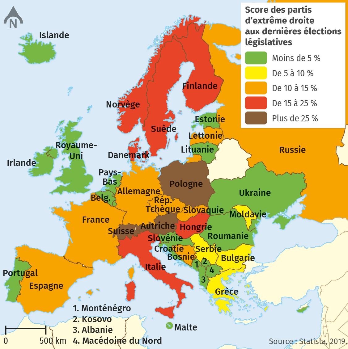 La montée de l'extrême droite en Europe