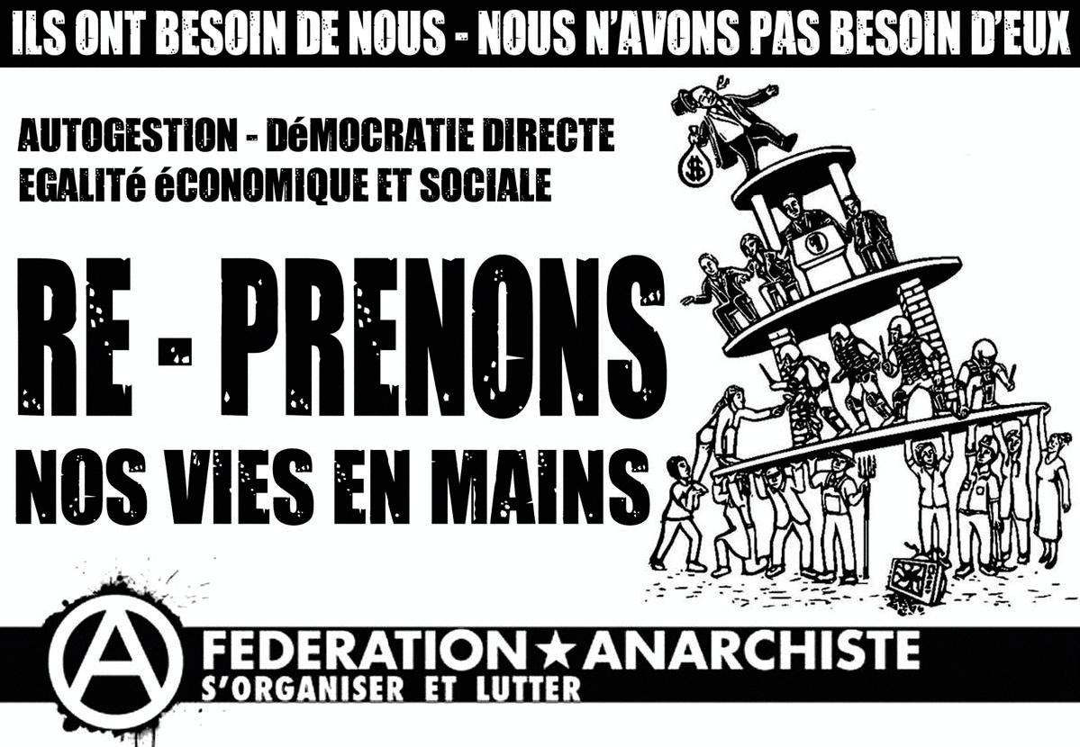 La démocratie directe, un idéal d'extrême gauche Affiche Anarchiste