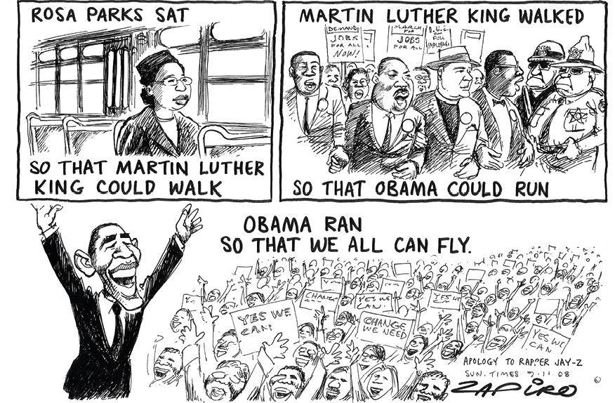 Cartoon by Zapiro, 2008