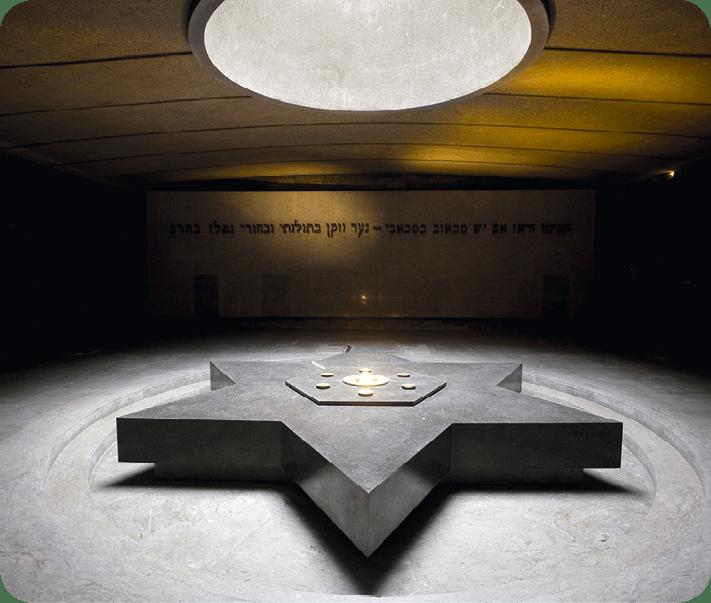 La crypte du Mémorial de la Shoah de Paris.