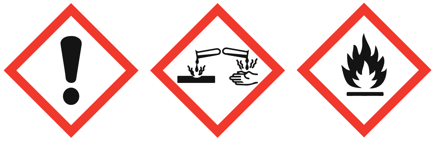 pictogramme de sécurité, inflammable, corrosif