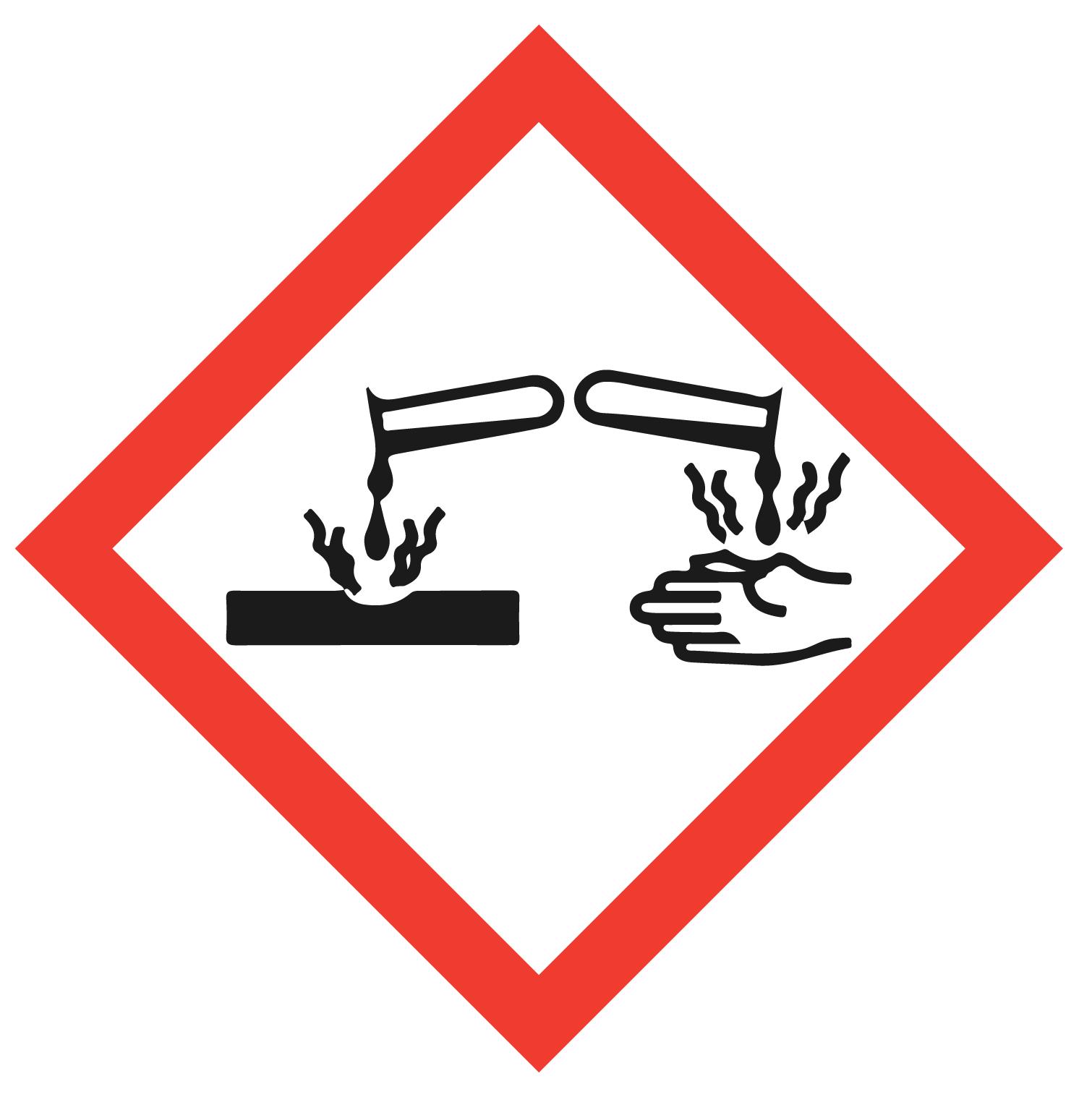 pictogramme de sécurité corrosif