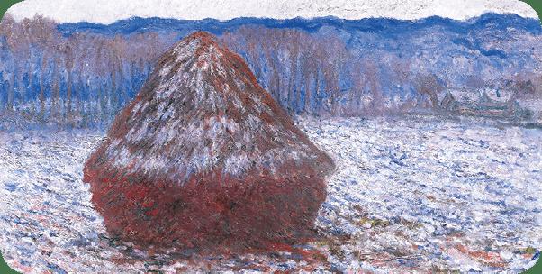 Claude Monet, <i>Meules, effet de neige</i>