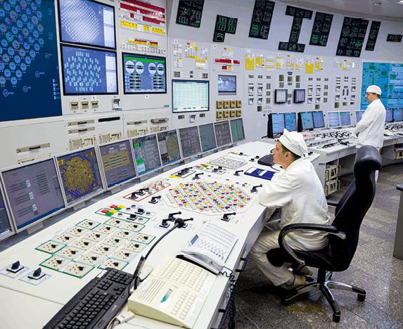 salle de contrôle d'une centrale nucléaire