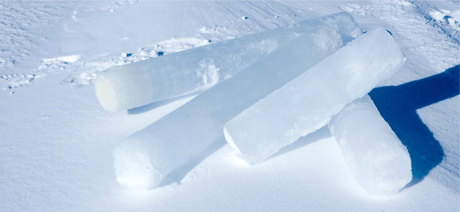 Carotte glaciaire