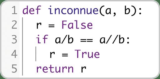 Exercice - Fonction inconnue écrite en Python