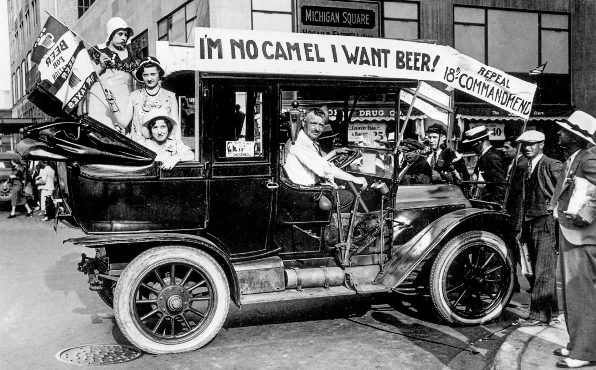 Prohibition protesters calling for the repeal of the 18th Amendment