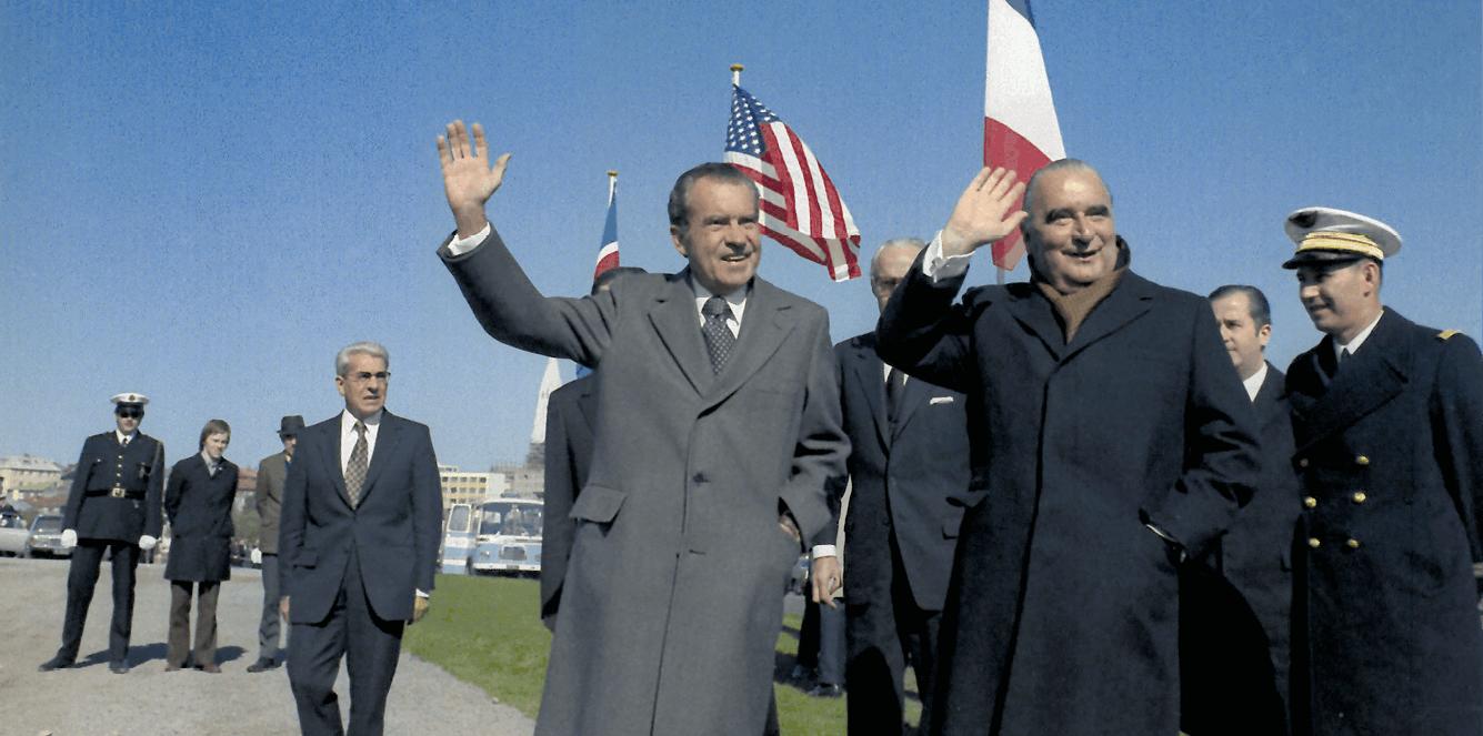 Pompidou et Nixon