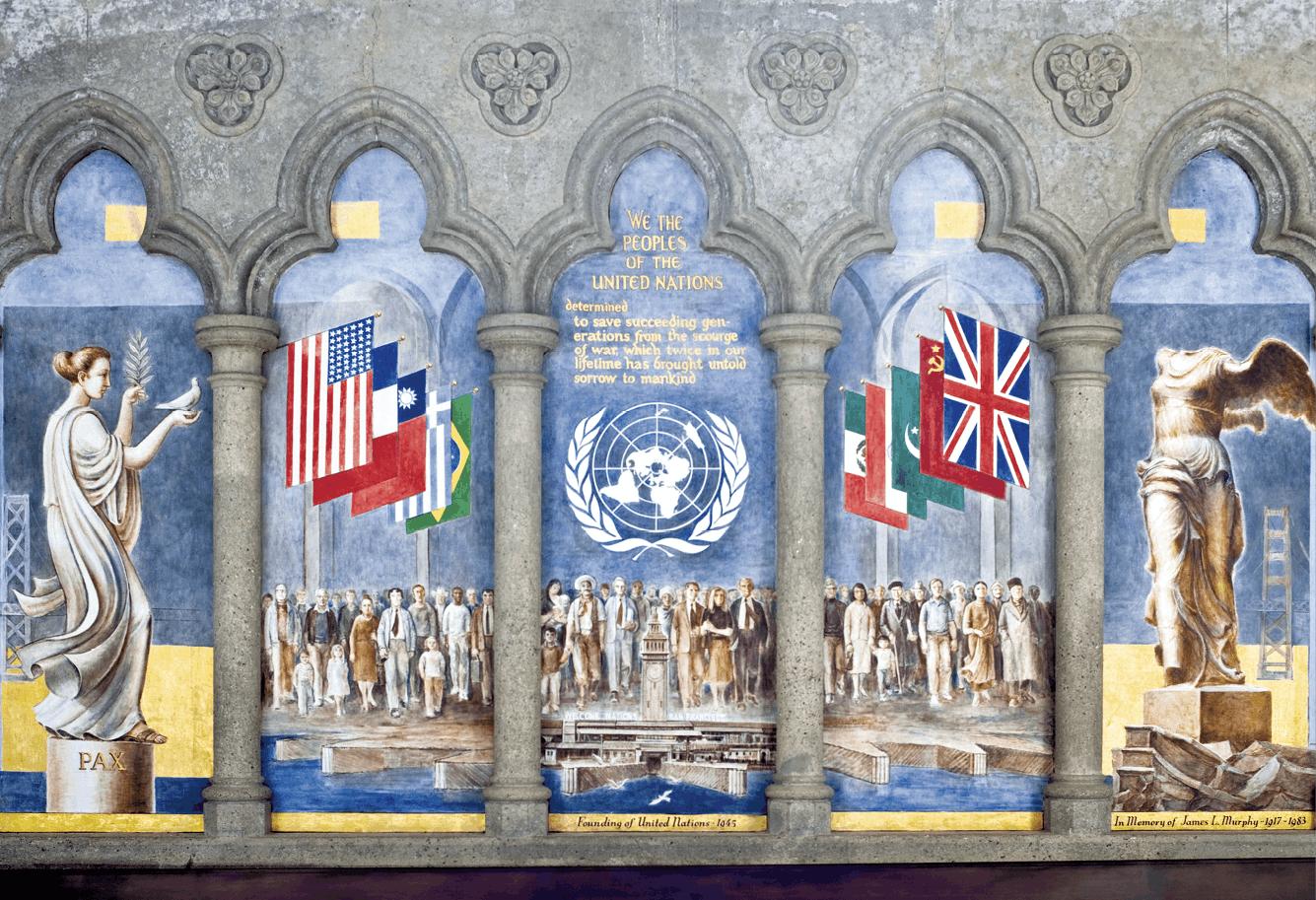 fresque sur la Fondation des Nations Unies